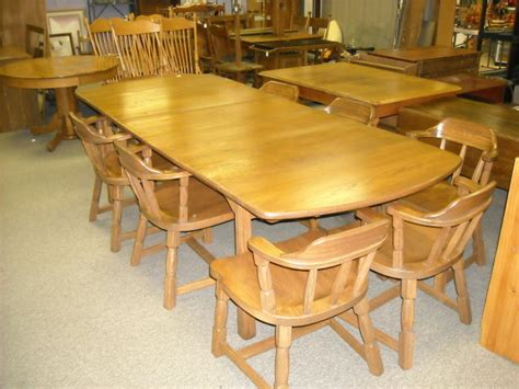 oak dining table and 8 chairs for sale for sale antiques com classifieds