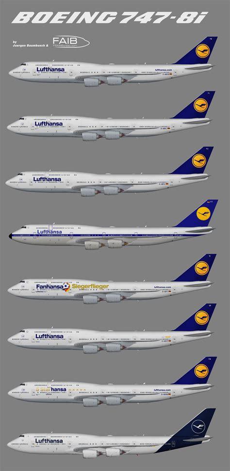 bureau lufthansa lufthansa boeing 747 8i juergen 39 s paint hangar