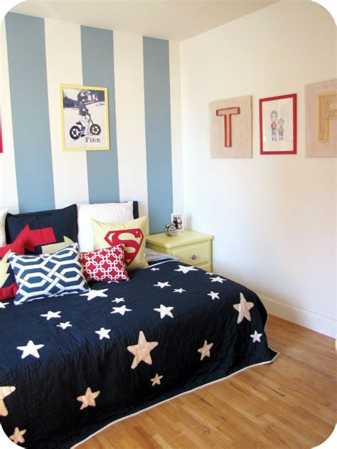 boys bedroom my house of giggles a red yellow and blue striped shared boys bedroom