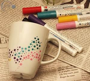 Tassen Bemalen Ideen : ge punktet tassen upcycling ~ Yasmunasinghe.com Haus und Dekorationen