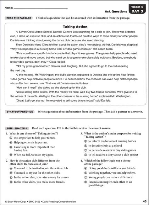 Reading Comprehension 8th Grade Worksheets Worksheets For All  Download And Share Worksheets