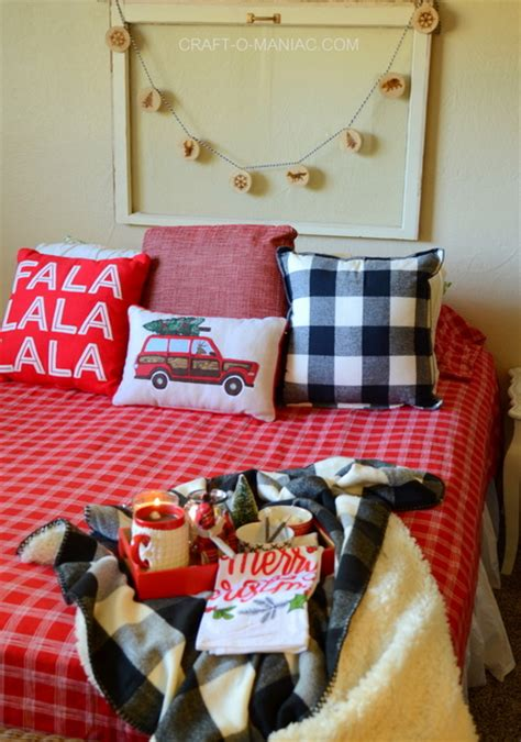 cozy plaid christmas bedding craft  maniac