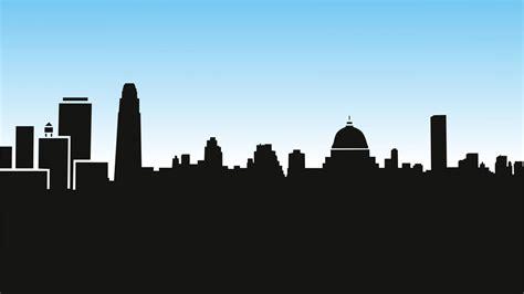 city skyline  night vector wallpaper