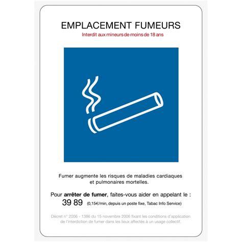 vapoter au bureau signalétique et réglementation liée à la cigarette tabac
