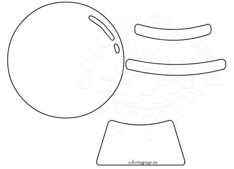 snow globe template printable snow globe shape template coloring page