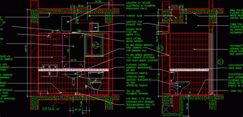 bathroom detail  bedroom house dwg plan  autocad designs cad