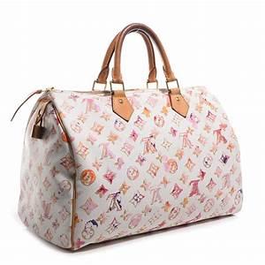 LOUIS VUITTON Watercolor Aquarelle Speedy 35 Bag White