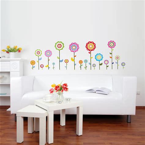 Wandtattoo Kinderzimmer Blumenwiese Reuniecollegenoetsele