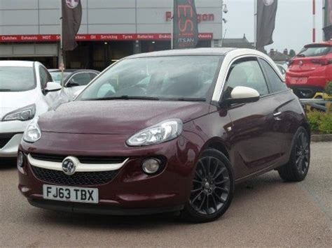 vauxhall purple 2013 63 vauxhall adam 1 4 16v glam 3dr in very berry