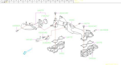 Subaru Intake Manifold Diagram by 2016 Subaru Sti Duct Assembly Air Intake Manifold