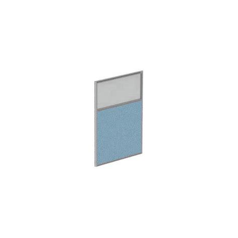 cloison de bureau acoustique 2 3 tissus 1 3 verre hauteur