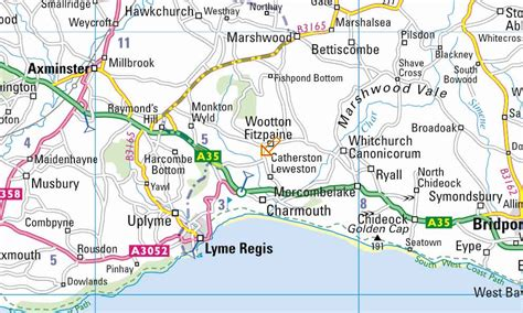 dorset map bigger