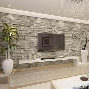 HANMERO Chinese Style Brick Stone Effect Wallpaper hotel ...
