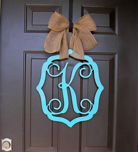 letter door hangers wooden monogram door hanger wreath initial vintage frame