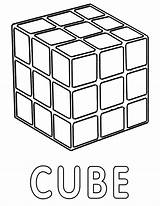 Cube Coloring Cube1 sketch template
