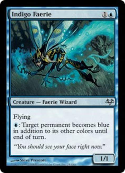 Blue Faerie Deck Mtg by Indigo Faerie Eventide Gatherer Magic The Gathering