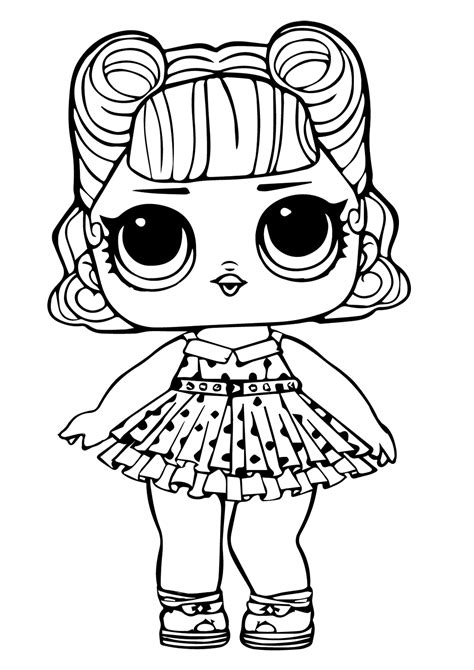 printable lol surprise dolls coloring pages lol