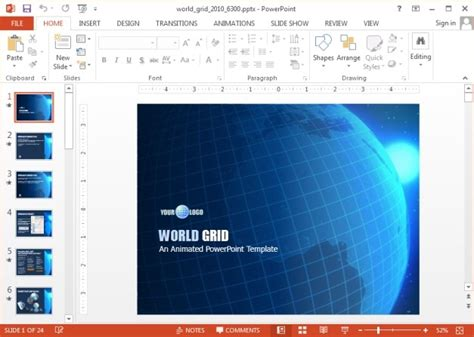 animated rotating earth powerpoint template