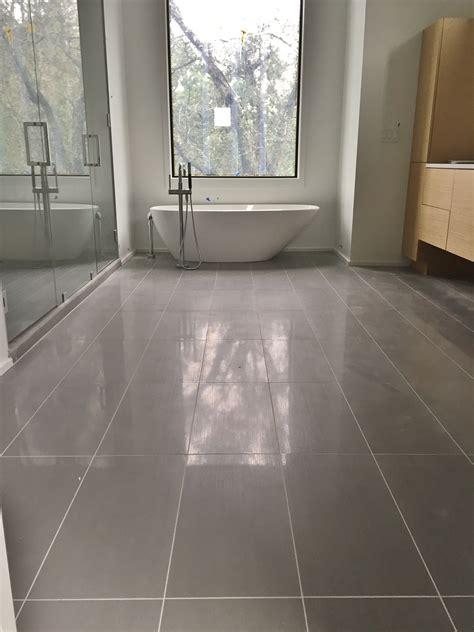 Porcelain Bathroom Tile by 12x24 Porcelain Tile On Master Bathroom Floor Tile