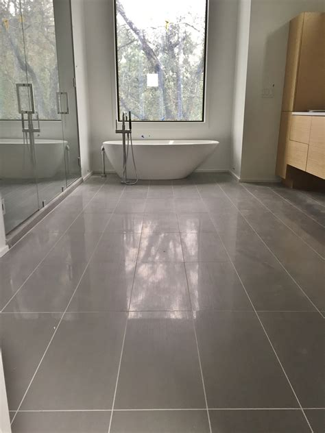 12x24 Tile Bathroom by 12x24 Porcelain Tile On Master Bathroom Floor Tile