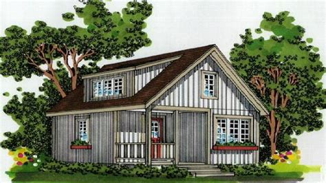 Small House Plans Small Cabin Plans with Loft and Porch
