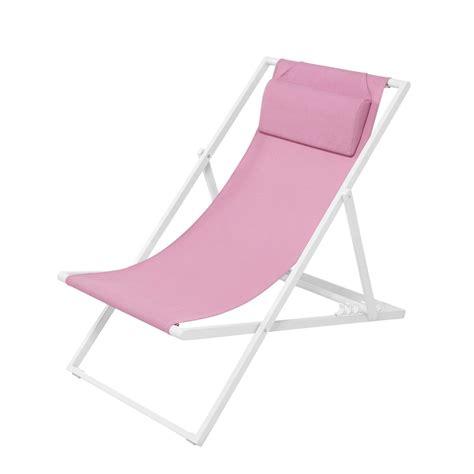 toile chaise longue chaise longue chilienne en métal et toile plastifiée
