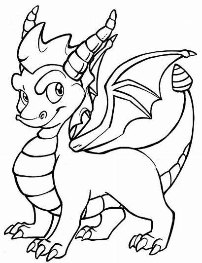 Coloring Dragon Pages Popular