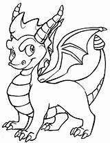 Coloring Dragon Pages Baby Popular sketch template
