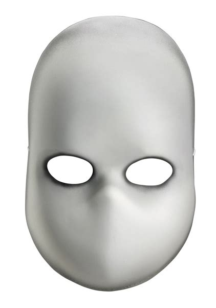 large blank printable face mask blank
