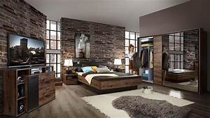 Schlafzimmer Set JACKY Bett Schrank Nako Schlammeiche und