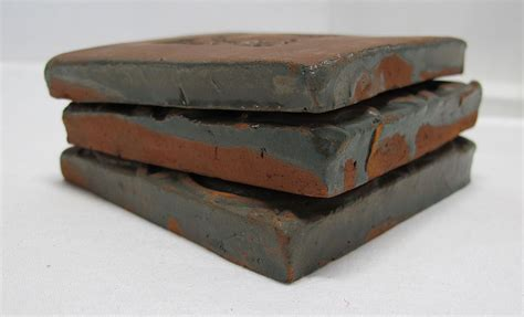3 antique moravian pottery mercer redware tiles scorpion