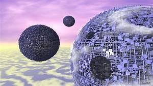 Space architecture clouds - Desktop background 1366x768