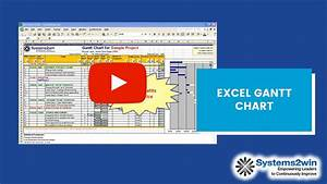 Project Planning Gantt Chart Excel Excel Gantt Chart Project Plan Youtube