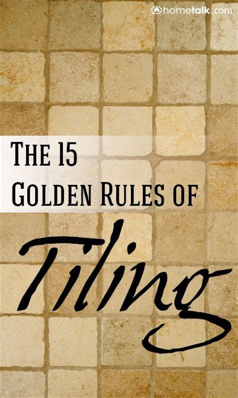 Diy Excellent Post !! The #15 Golden Rules Of Tiling