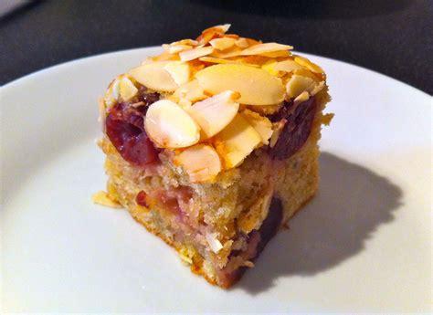 cherry almond banana tray bake bake bake bake
