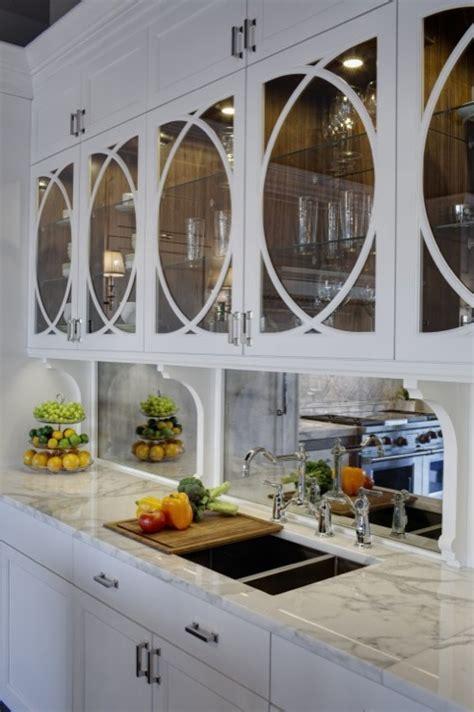 mirrored glass kitchen cabinets antique mirrored backsplash design ideas