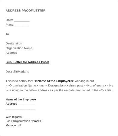 address proof letter  company  nurses cv sample