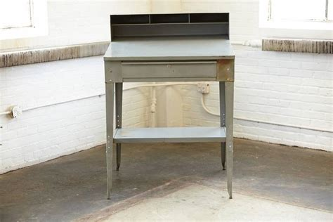 industrial standing desk vintage industrial painted steel stand up factory foreman
