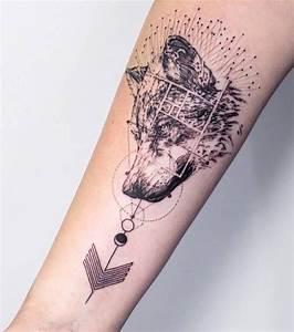 Tatouage Loup Geometrique : tatouage 200 mod les et id es pour un tatouage femme ~ Melissatoandfro.com Idées de Décoration
