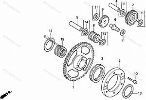 Honda Motorcycle 2000 Oem Parts Diagram For Starter Clutch