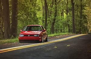 volkswagen golf mk3 red HD wallpaper