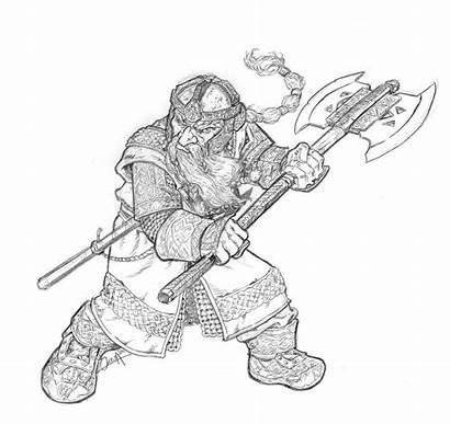 Gimli Character Dwarf Lord Rings Drawing Lotr