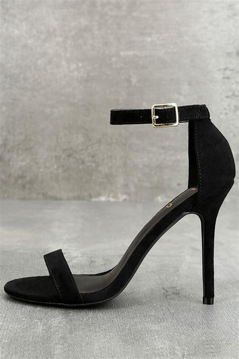 sexy single strap heels ankle strap heels black heels