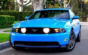 Ford Mustang GT blue car front view wallpaper | cars | Wallpaper Better