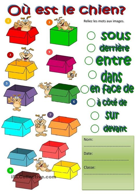 pin  amy king  prepositions teaching french french