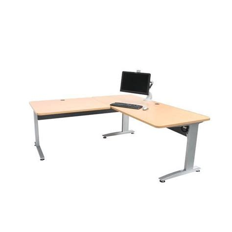 l shaped adjustable desk conset dm15 l shaped height adjustable desk ergoport