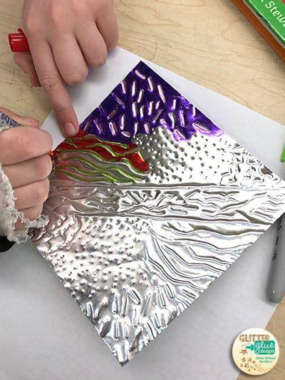 metal tooling  visual texture aluminum foil art