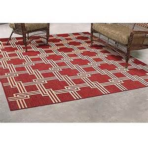 mainstays red squares outdoor rug 8 x 10 walmart com