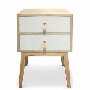 Table De Chevet Scandinave Pas Cher : table de chevet 2 tiroirs scandinave blanc pas cher ~ Melissatoandfro.com Idées de Décoration