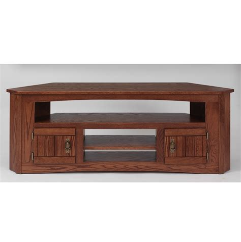 oak tv stands solid oak mission style corner tv stand 61 quot the oak furniture shop